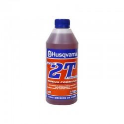 Aceite mezcla motor 2T Husqvarna de 1 litro para Motosierra - Orilladora - Desmalezadora - Desbrozadora